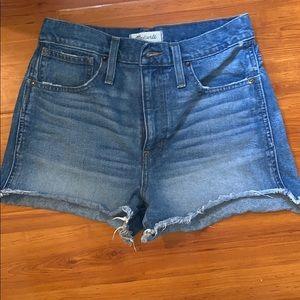 Madewell high waisted shorts